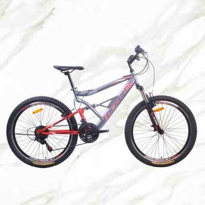 New Style Mountain Bike 26 inch Steel Frame Steel Fork 21sp Double V Brake MTB For Sale