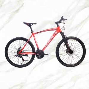 Adult Mountain Bike 26 inch Steel Frame Steel Fork 21sp Double Disc Brake MTB For Sale