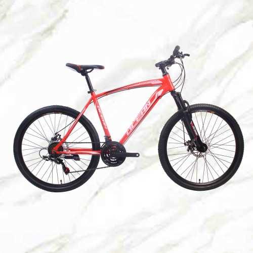 Adult Mountain Bike 26 inch Steel Frame Steel Fork 21sp Double Disc Brake MTB For Sale