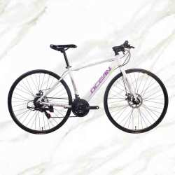 Adult Road Bike 700c Alloy Frame Steel Fork 21sp Double Disc Brake Adult Bicycle Road Bike For Sale