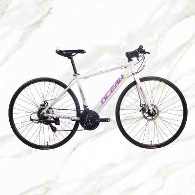 Adult Road Bike 700c Alloy Frame Steel Fork 21sp Double Disc Brake Adult Bicycle Road Bike For Sale