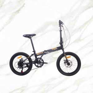 20 inch Alloy frame and Steel fork 7 speed double disc brake folding bicycle OC-17F20018A08