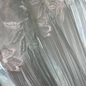 Tussel embroidery fabric