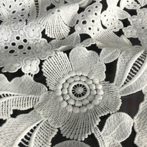 white guipure lace fabric