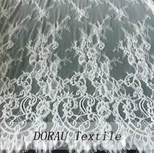Wedding dress white lace fabric