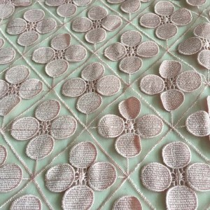 (Feb.2017)3D tulle embroidery fabric