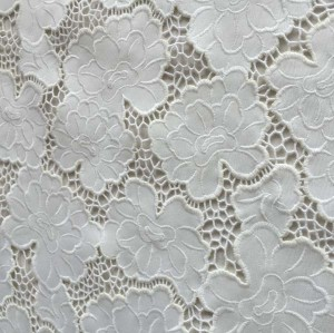 (Feb.2017)White lace fabric
