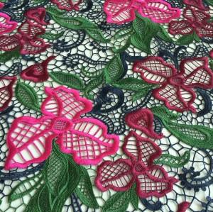 (Feb. 2017)New multi color lace fabric