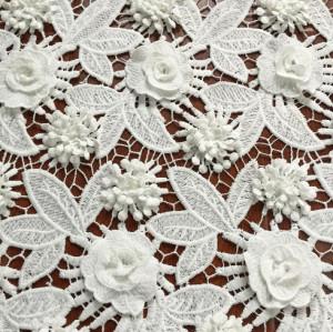 (June, 2017) New 3D applique lace fabric