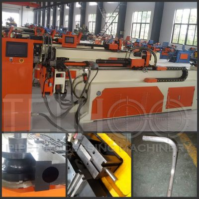 Aluminum profile bending machine with hole punching function