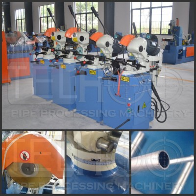 Manual pipe tube cutting machine with different angle sawing