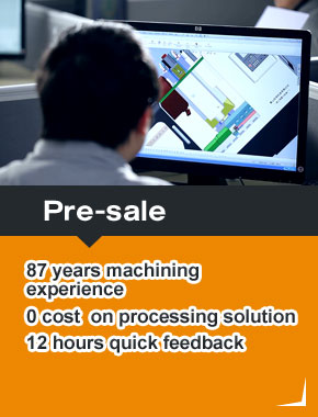 Pre-sale 87 years machining experience 0 cost on processing solution 12 hours quick feedback
