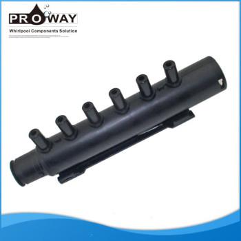 8 mm accesorios de tubería de PVC colector de aire 6 de salida