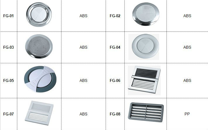 Round ABS Cover Bathroom Small Ventilation Guard Shower Room Fan Part .