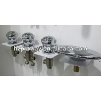 Bañera grifo de la cascada de plástico mezclador de la ducha