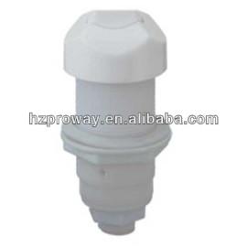 Blanco frente 3 mm de diámetro exterior del tubo de conexión de aire interruptor