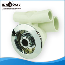 Blanco PVC Body Whirlpool piezas de chorro de agua de la cabeza de ducha