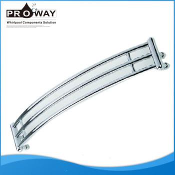 M5 410 x 25 mm de plástico piezas de baño barra de apoyo de ducha