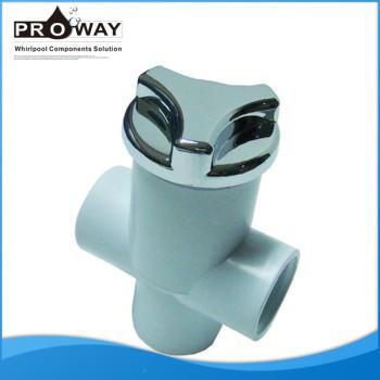 Va-001 3 x 32 mm blanco PVC botón de la válvula neumática