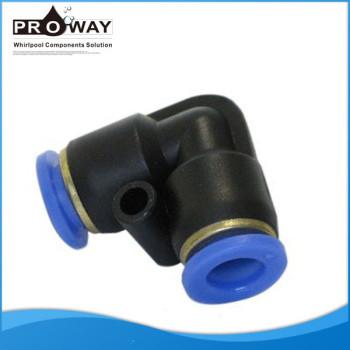 Plástico 8 mm bañera de hidromasaje piezas de tuberías de agua conector rápido