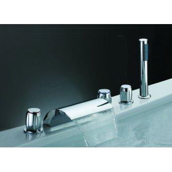 Hidromasaje Spa ducha de mano bañera de agua caliente fría caliente mezclador para bañera grifo de la cascada