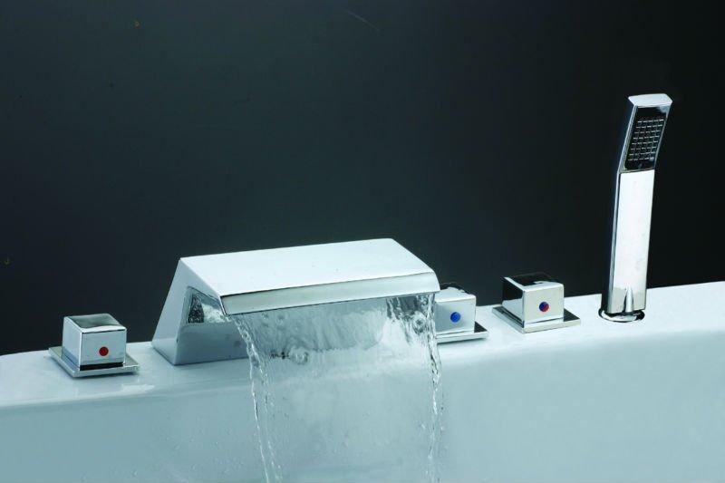 Bathtub Water Mixer Spa Waterfall Spout Hot Tub Hand