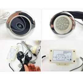 Bañera de hidromasaje de luz LED bajo el agua de la lámpara con caja de Control con CE