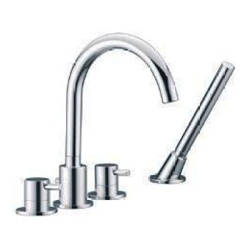Frío tibio ajustar boquilla de Spa 4 agujero mezclador de la bañera grifos