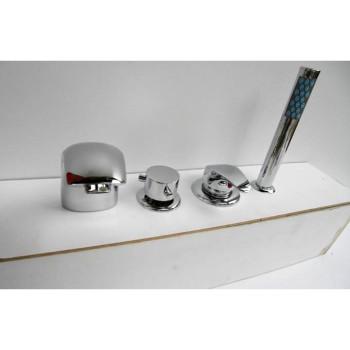 Bañera de ducha de montaje de hidromasaje mezclador de 4 agujeros grifo