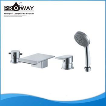 Caño de bañera 6 agujeros bañera grifo de la ducha mezclador grifo de la bañera Set
