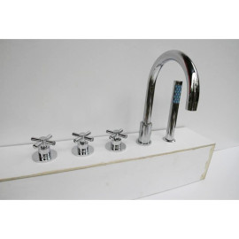 Hidromasaje grifo con ducha de mano bañera Aqua agua del grifo ajustar Spa accesorios