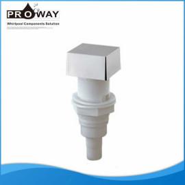 Bañera de componentes de cromo plateado ABS Square regulador de aire