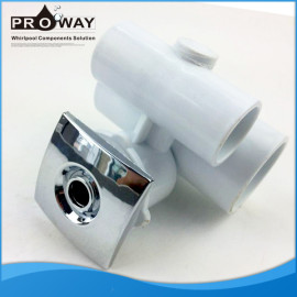 41 mm * 41 mm blanco PVC Body Tub Parts profesional de chorro de agua