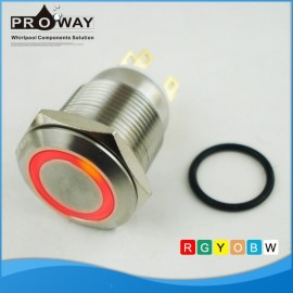 Nuevo tipo de acero inoxidable plana oyen Dot iluminación botón del Metal de empuje
