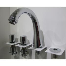 Bañera de hidromasaje Spa caño 4 agujeros baño grifo mezclador grifo