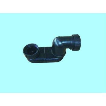Material ABS negro drenaje sifón