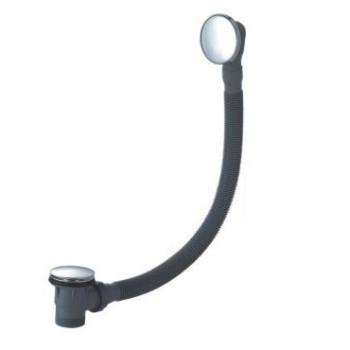 75 cm de latón con enchufe grande y perilla de Control de empuje de la bañera escurridor