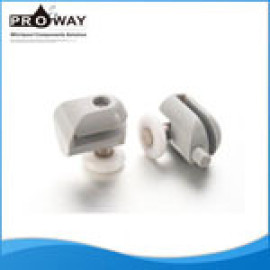 Deslizamiento cabina de ducha con encendedor de plástico rodamientos de piezas de la puerta