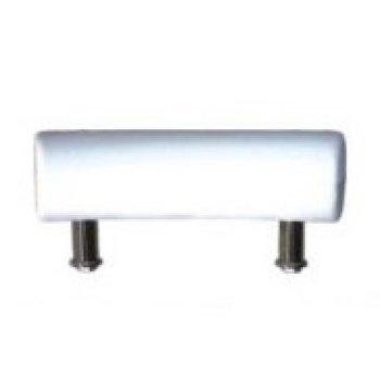 Blanco rectángulo suave almohada de baño con diseño cómodo