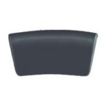 Rectángulo bañera negro cuello almohada