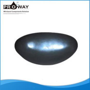 De color gris oscuro PW-07 baño de la PU almohada