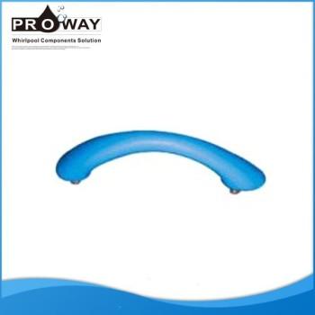 Alta calidad azul de plástico moldeado bañera mango