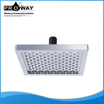 Ahorro de agua pequeña de plástico montado en la pared la cabeza de ducha