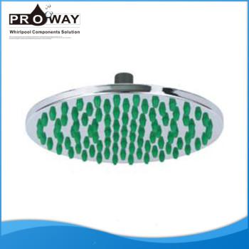 Cuarto de baño del ABS cromado lluvia bajo cabeza de ducha de flujo