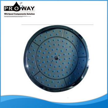 Diámetro 250 mm Top negro gran cabeza de ducha