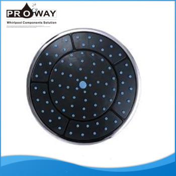 Diámetro 250 mm forma redonda cabeza superior de la ducha sala