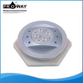 Diámetro 80 mm Chrome ABS baño de chorro de agua eléctrico