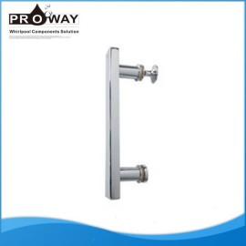 De acero inoxidable accesorios de ducha perillas de vidrio de la puerta manijas de palanca