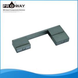 Distancia del agujero 145 mm perillas de aluminio accesorios de deslizamiento de vidrio moderno cuarto de baño tiradores de las puertas