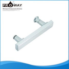 Correderas de aluminio de cristal moderno cuarto de baño tiradores de las puertas